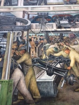 Rivera painted people of all races working together--something that didn't happen in 1932
