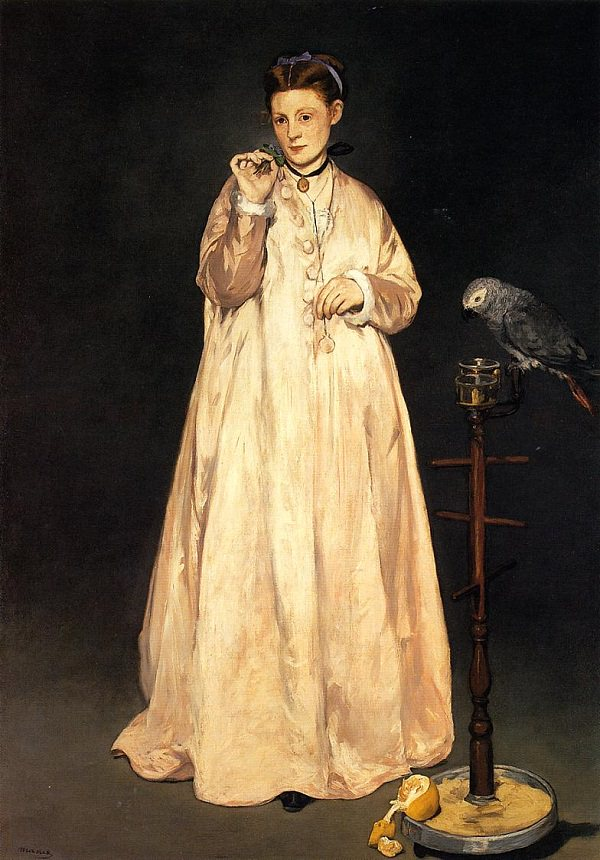 woman-with-a-parrot
